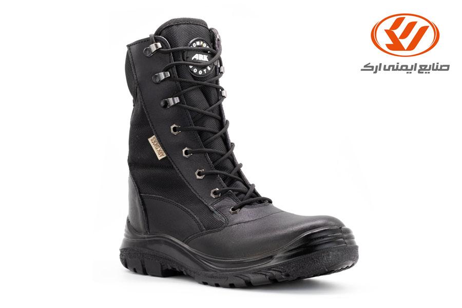 الأحذية العسكرية شاهین مع سحاب لون أسود