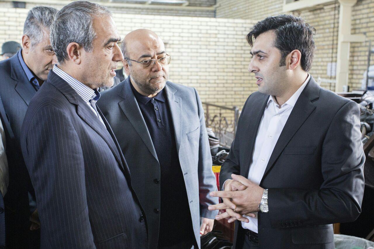 بازدید استاندار محترم آذربایجان شرقی از گروه تولیدی صنایع ایمنی  ارک تبریز