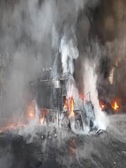 حادثه آتش سوزی شرکت مولدان