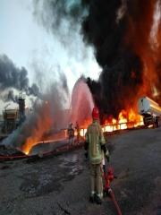 آتش سوزی در پالایشگاه شهید تندگویان