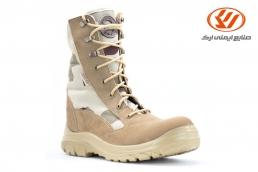 الأحذية العسكرية شاهین مع سحاب لون كريمي