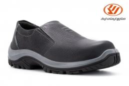 أحذية الأمان بدون اربطة اپنکا لون الاسود PU_TPU