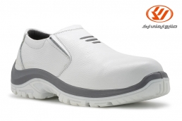 أحذية الأمان بدون اربطة اپنکا لون الابیض PU-TPU