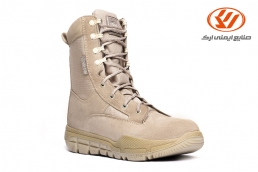 Guard Suede military boots with zipper