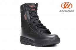 Guard Leather military boots with zipper