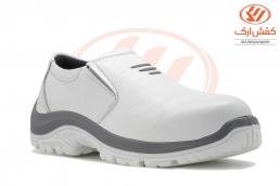 کفش ساق کوتاه ایمنی اپنکا کشی سفید PU-TPU